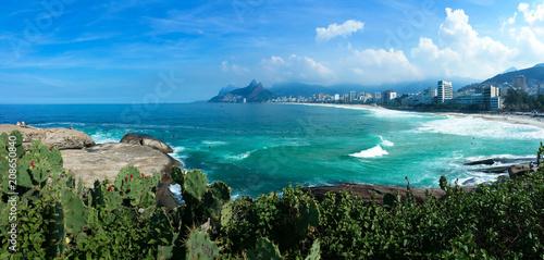 View of Ipanema from the Arpoador stone, Rio de Janeiro, Brazil