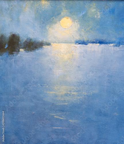 Oil painting, handmade  © vadim_fl