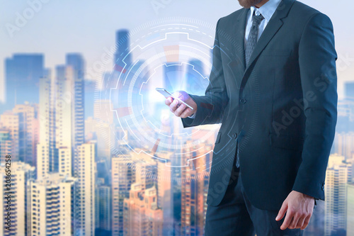 Technology and communication concept - 208654258
