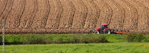 Aluminium Landschappen Panorama agricole, campagne en France