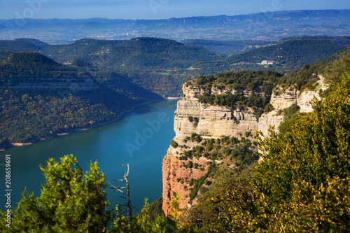 Foto Murales Sau reservoir  from high point. Catalonia