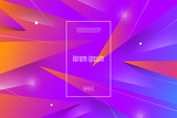 Abstract vector multicolored background with dynamic geometric shapes and lines. Vector illustration. Multipurpose design can be used as cover, poster, flyer or web page background. - 208659822