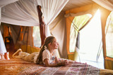 Little girl on safari - 208663825