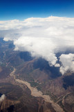 Aerial View - Clouds over Andes Mountains in Cusco, Peru - 208665221