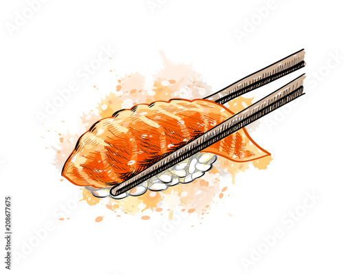 Gunkan sushi with salmon - 208677675