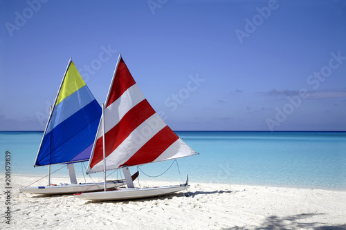 Sailboats on the Beach