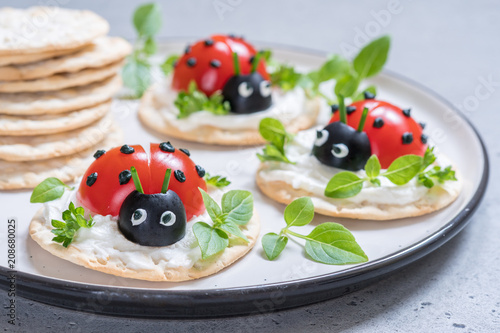 Poster Tomato Ladybird Appetizer