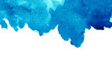 Abstract blue watercolor background - 208690221