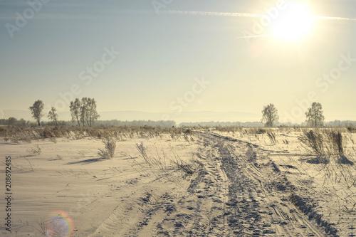 Fotobehang Beige winter