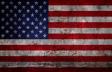 Grunge USA Flag - 208692823
