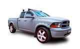Fototapety American pickup truck. White background.