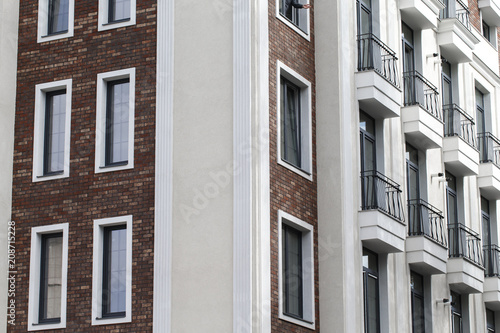 Modern building with classic architectural elements