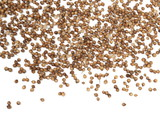 Coriander seeds isolated on white background, top view  - 208716495