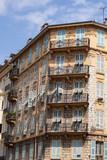 Beautiful old building facade in Menton, France - 208716883