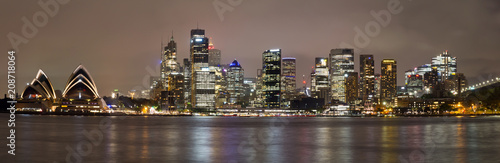 Australien, Sydney, Skyline bei Nacht