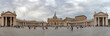 VATICAN CITY, VATICAN - JUNE 8, 2018: Vatican Place and Saint Peter Church after Pope Francis Sunday Mass in Rome