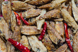 Spicy Flavored Fried Fishes for Appetizer Eating. - 208720253