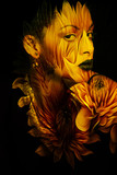 young black woman portrait double exposure - 208720604