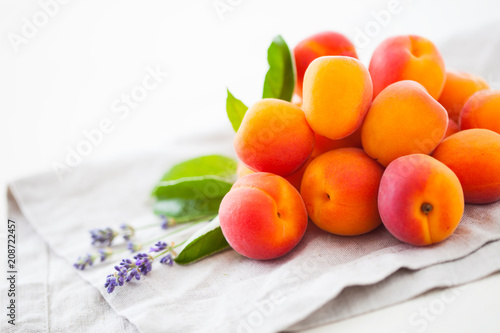 pile of fresh apricots - 208722457