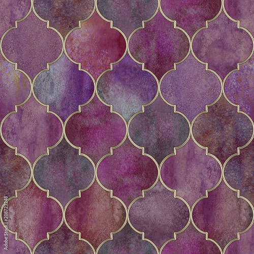 Vintage decorative moroccan seamless pattern - 208723248