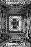 The Eiffel Tower, abstract view from below, Paris France