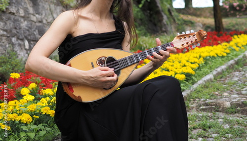 Musician playing italian mandolin - 208732879