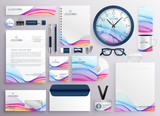 stylish big set of business stationery items - 208733013