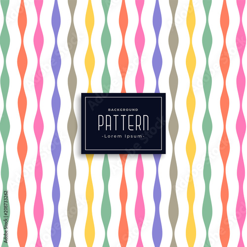 colorful ribbon style birthday pattern background - 208733262
