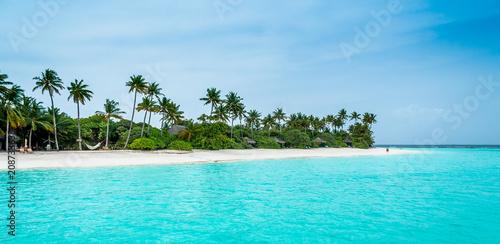 Aluminium Tropical strand Maldives. Paradise beach. Perfect vacation.