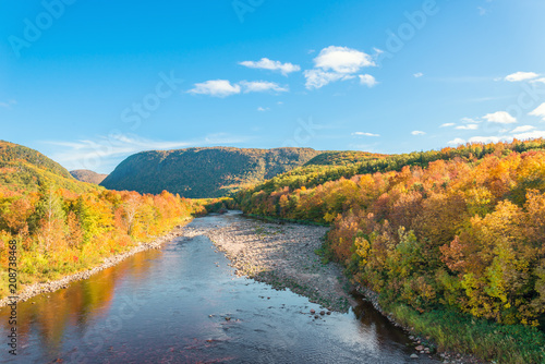 Fotobehang Canada Cabot Trail scenic view
