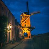 Drive Through Windmill in Wijk bij Duurstede Netherlands at Dusk