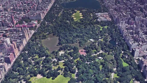 Newyork Central Park Aerial View