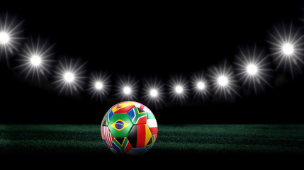 WM Flaggen Ball Stadion