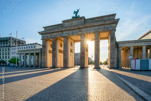 Leinwanddruck Bild Brandenburger Tor in Berlin, Deutschland