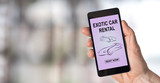 Exotic car rental concept on a smartphone - 208751204