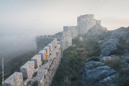 The ancient castle of snake, Adana,Turkey,situated on top of a mountain and offers a beautiful view of the landscape.