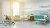 Sonniges Zweibettzimmer im Pflegeheim oder Krankenhaus - 208756045