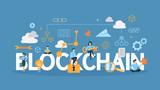 Blockchain concept illustration. - 208760888