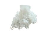 white plastic bag packing stacking on white background - 208761085
