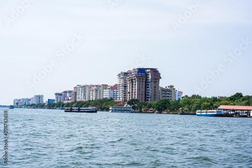 Foto Murales Cityscapes of Kochi city, Kerala, India.