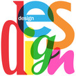 DESIGN colorful letters collage