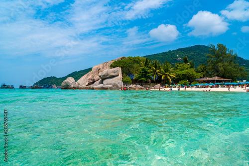 Beautiful island of Koh Nang Yuan located near Koh Tao, Thailand