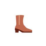Woman's Boot woman footwear vector illustration simple flat icon symbol emoji emoticon - 208772635