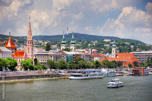 Danube river in Budapest, capital city of Hungary, Europe