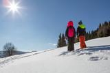 winterwanderung im schnee