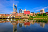 Nashville, Tennessee, USA downtown city skyline on the Cumberland River. - 208777625