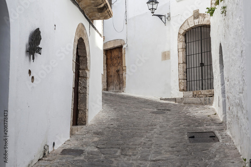 Solitary street, winter day in historic center of Ibiza. Balearic islands,Spain. © joan_bautista