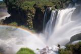 Rainbow caused by Iguazu Falls