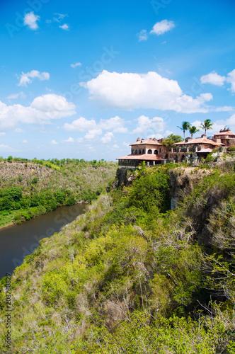 Ancient village Altos de Chavon - Colonial town reconstructed in Dominican Republic. Casa de Campo, La Romana.