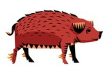 chinese zodiac pig - 208788612